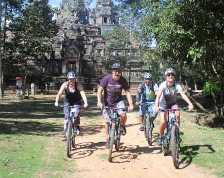 Sunrise Angkor Wat Bayon Preah Khan TaNei Taprohm Bike Tour Option 2