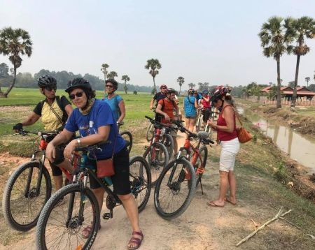 South Countryside of Siem Reap Tonle Sap Lake Floating Village Bike Tour Option 5